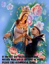St Anthony and Mother Mary